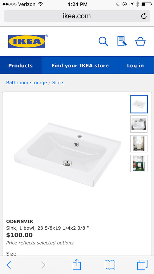 Which Delta Trinsic Sink Faucet For This IKEA Odensvik Sink?