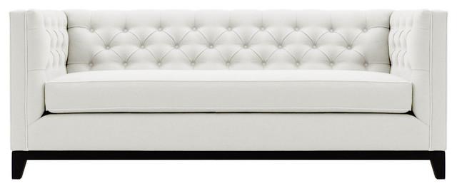 Gretchen Tufted Sofa In Blue Velvet