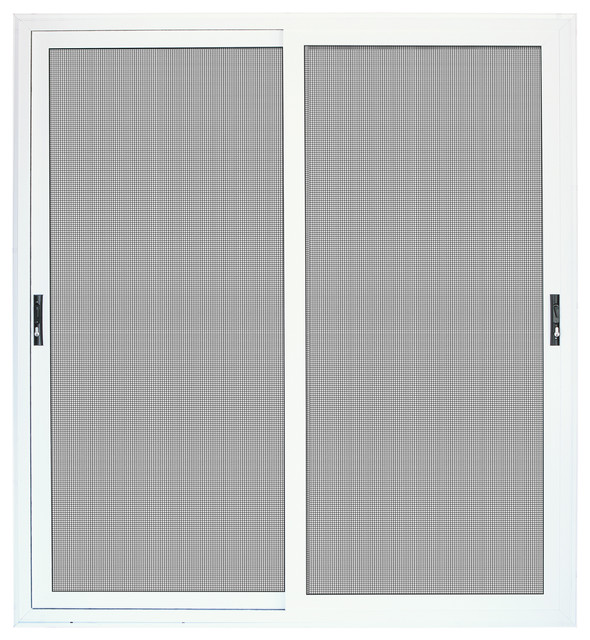 Aluminum Security Screen Door white surface mount sliding patio aluminum meshtec security screen