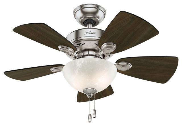 Watson 2-Light Indoor Ceiling Fans, Brushed Nickel.