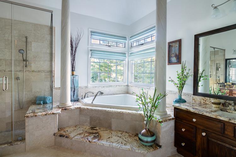 Modern Mediterranean Master Bathroom
