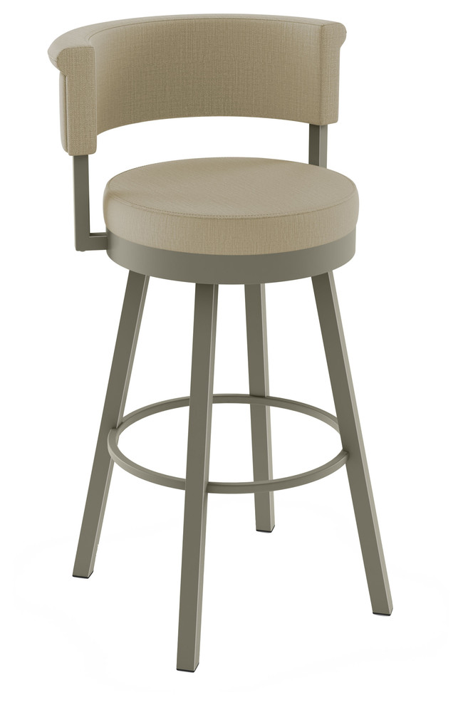 Awe Inspiring Amiso Rosco Swivel Stool Matte Light Grey Beige Fabric Counter Height Pabps2019 Chair Design Images Pabps2019Com
