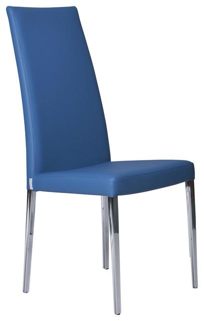 Magda Modern Chair, Blue