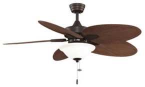 "Windpointe, 54"" Ceiling Fan Antique Brass Narrow Oval Natural P."