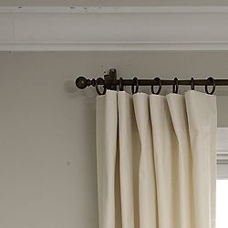 How To Hide Clips When Putting Rings On Flat Panel Curtains