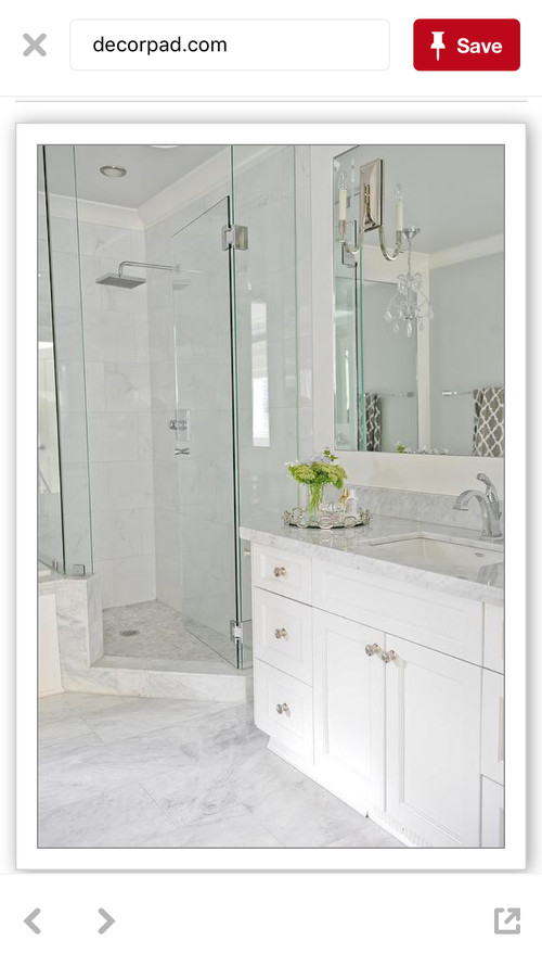 How To Finish The Space Between Shower And A Vanity