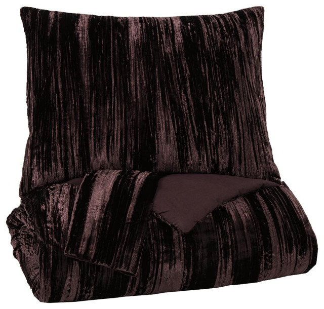 Wanete Wine King Comforter Set Contemporary Comforters And Comforter Sets By Ashley Furniture Industries