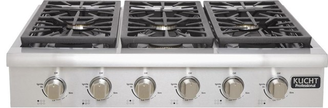 """Kucht 36"""" Professional Series Gas Range-Top With 6 Sealed Burners."""