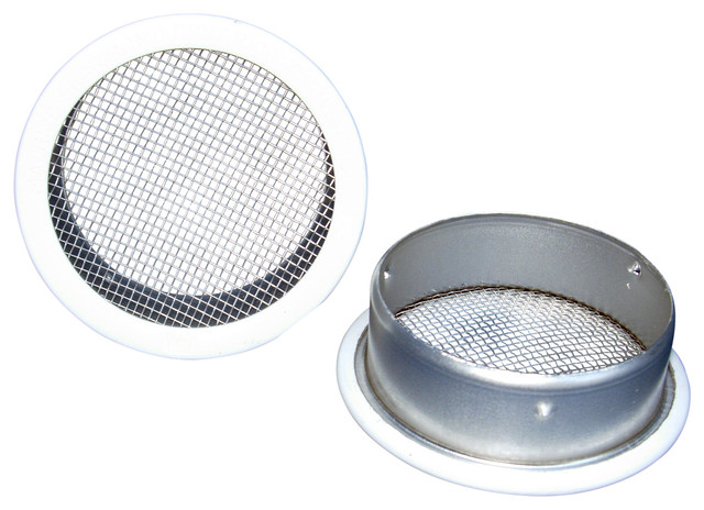 """6"""" Round Open Screen Vent, White, Set Of 2."""
