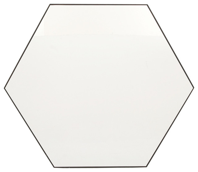 Eva Hexagonal Wall Mirror, 41x35.