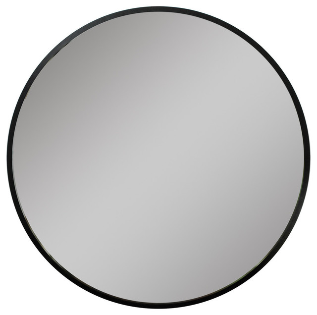 "Radian Wall Mirror, Black, 37"". -1"
