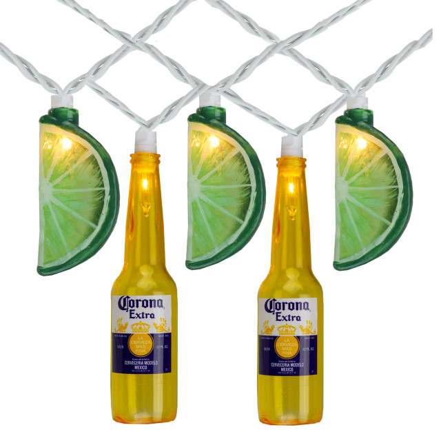Corona Extra Beer Bottle And Lime