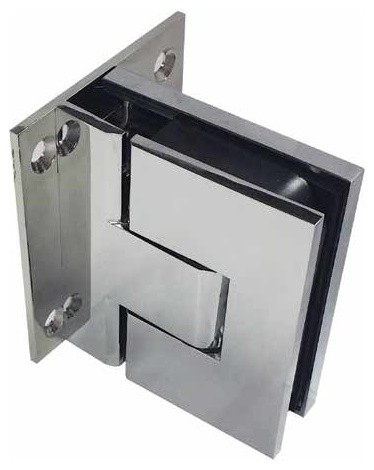Coastal Shower Doors Paragon Soft-Close Shower Door Hinges, Glass-2-Wall, Pair, Polished Chrome ...