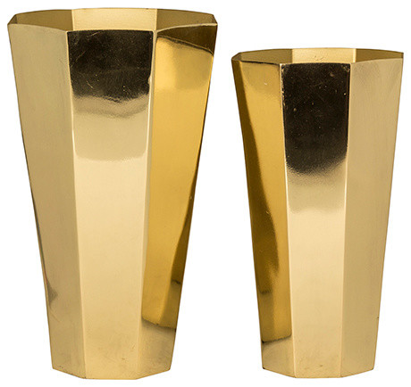 Vase in gold, 2er Set, Broste Copenhagen