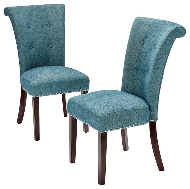 Enjoyable Colfax Dining Chair Set Of 2 Blue Creativecarmelina Interior Chair Design Creativecarmelinacom