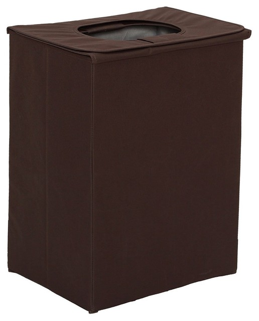 Heavy-Duty Folding Clothes Laundry Hamper With Lid And Handles.