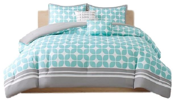 Olliix Peach Skin Printed Comforter Set