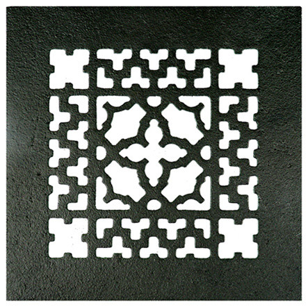 """Decorative Cast Iron Grille, With Holes, 6""""x6""""."""