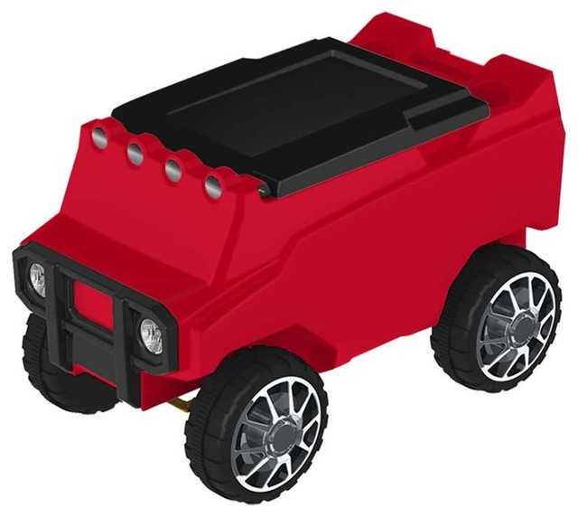 Atv Remote Control Cooler With Bluetooth, Red Body, Red.