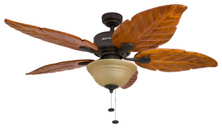 52 Quot Sabal Palm Bronze Ceiling Fan With Bowl Light And