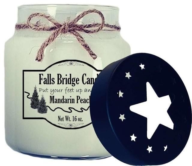 Mandarin Peach Scented Jar Candle, 16 oz, Star Lid