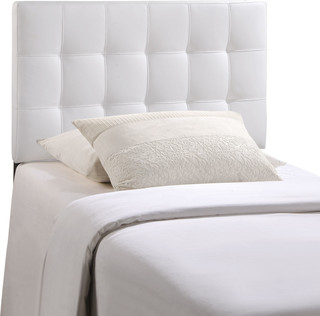 Bedroom Lily Twin Vinyl Headboard, White