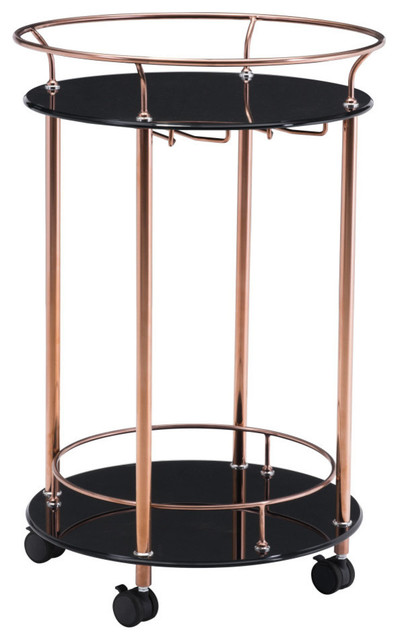 Zuo Plato Serving Cart Rose Gold View In Your Room