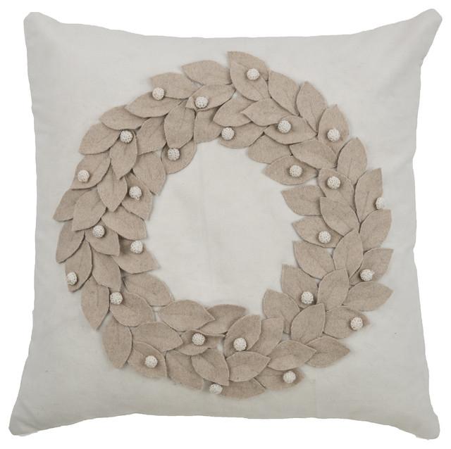 Austeen Pillow, Cream.