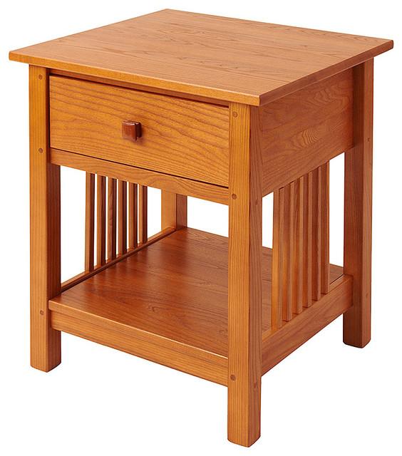Mission End Table, Golden Oak Craftsman Side Tables And End