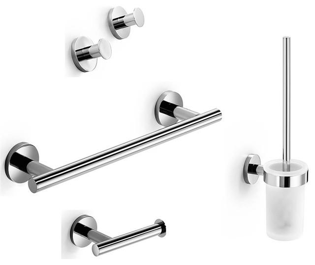 4 Piece Bathroom Accessory Set With Towel Bar Polished