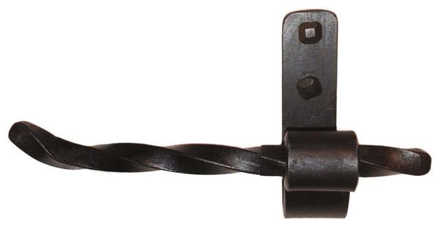Superbe Jerome Twisted Iron Toilet Paper Holder With Black Iron Finish, Left