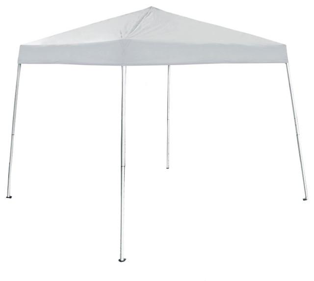 Aleko Iron Foldable Gazebo Canopy For Outdoor, White, 8&x27;x8&x27;.