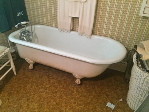 How Do I Add Grab Bars To An Antique Clawfoot Tub In My 1897 Home?