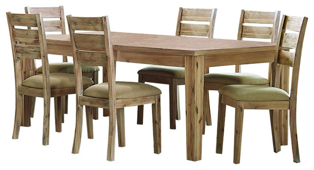 Homelegance Colmar 7 Piece Rectangular Dining Room Set, Burnished Oak