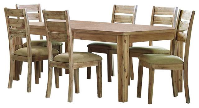 homelegance colmar 7piece rectangular dining room set burnished oak rustic dining