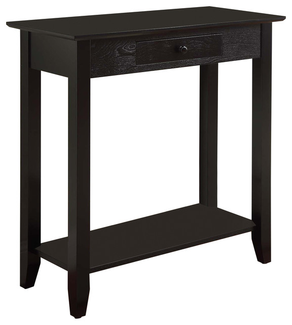 American heritage hall table with drawer and shelf for 10 spring street console table