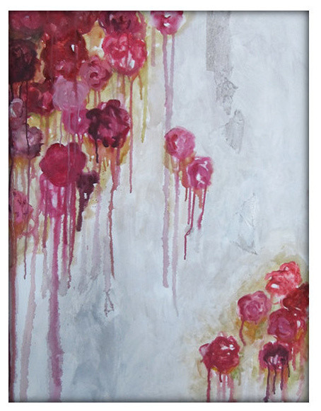 Flowers Abstract Art Oil Acrylic Painting