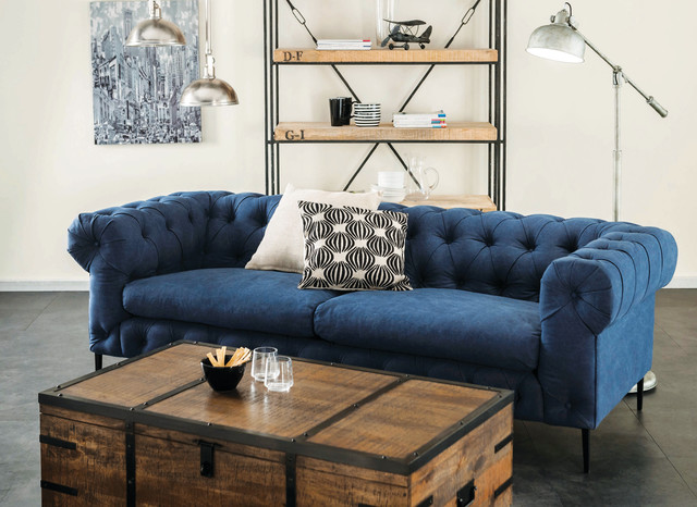 maxwell chesterfield sofa navy. Black Bedroom Furniture Sets. Home Design Ideas