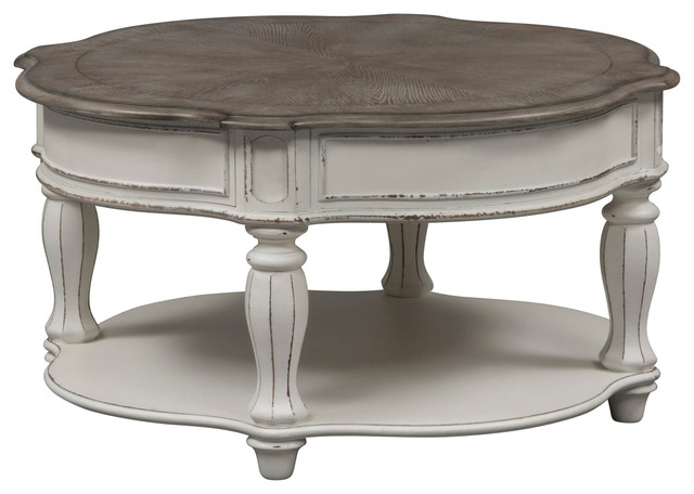 Awe Inspiring Magnolia Manor Round Cocktail Table Gmtry Best Dining Table And Chair Ideas Images Gmtryco