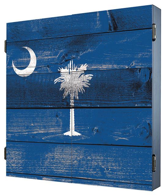 South Carolina Dartboard Cabinet - Rustic - Darts And Dartboards - by Darts & Decor