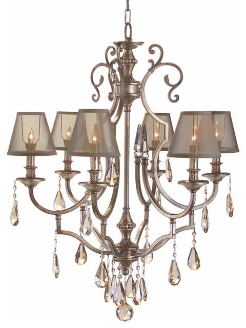 john richard 6 light chandelier ajc 8728 modern. Black Bedroom Furniture Sets. Home Design Ideas