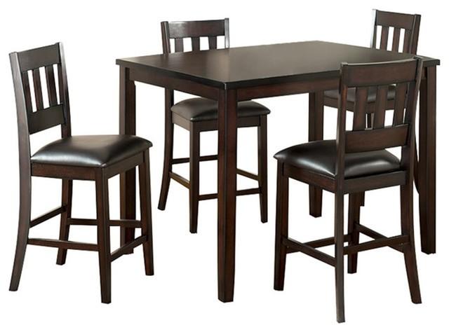 Captivating Greco Rectangle Pub Table,Greco Bar Back Pub Chair SET   40x40x36