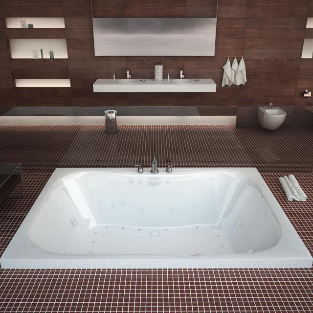 "Venzi Grand Tour Flora 48""x60"" Rectangular Air, Whirlpool Jetted Bathtub."