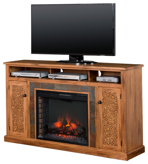 sedona fireplace media console southwestern entertainment centers and tv stands