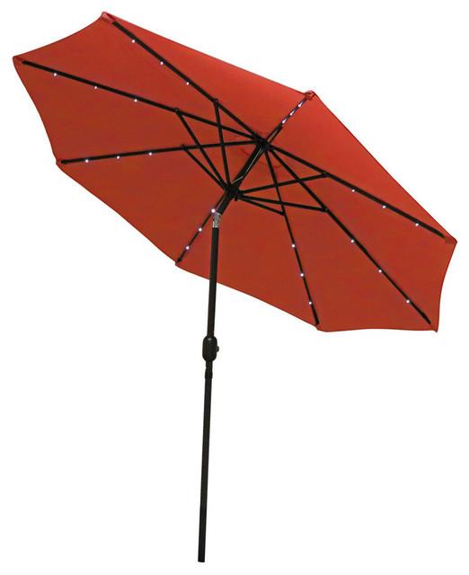 Sunnydaze Aluminum 9 Patio Umbrella With Tilt And Crank