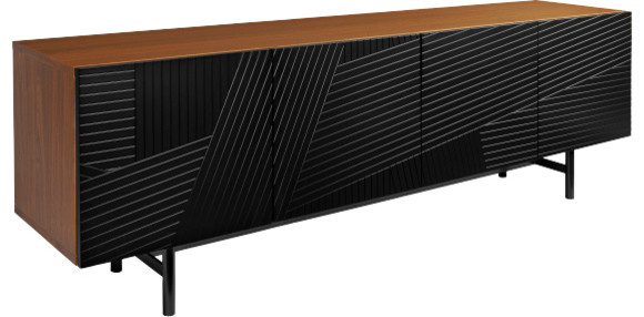 eskyss buffet bas en noyer moderne buffet et bahut par habitat officiel. Black Bedroom Furniture Sets. Home Design Ideas