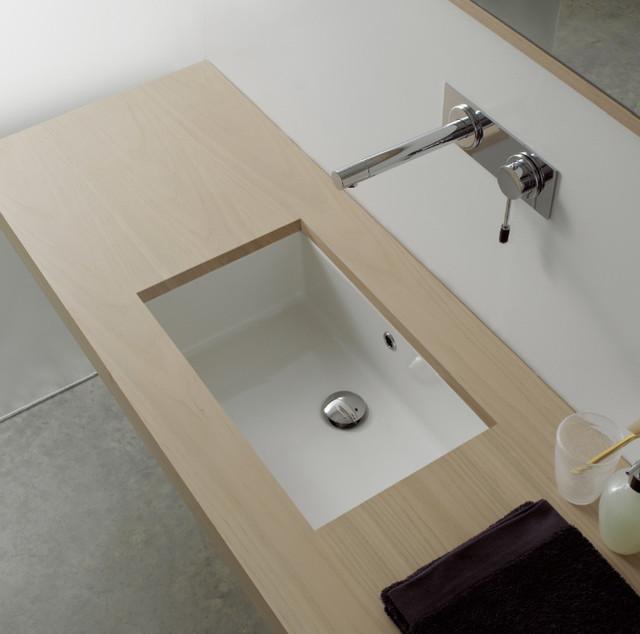 Rectangular White Ceramic Undermount Sink