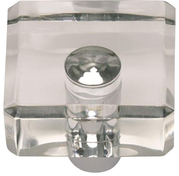 Atlas Optimism Lucite Door Knob, Chrome Transitional Cabinet And Drawer  Knobs