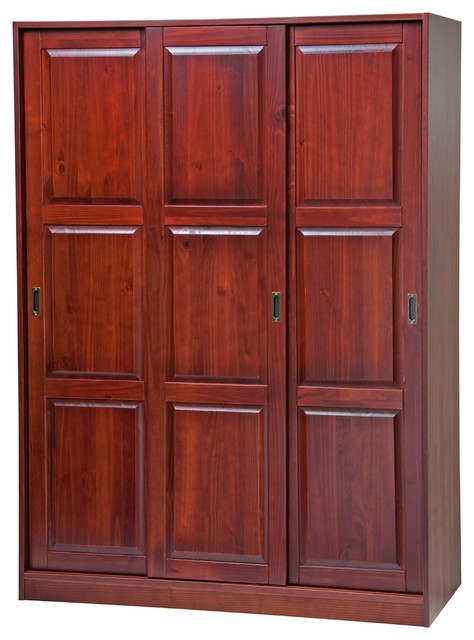 Great Woodson Armoire, Mahogany Transitional Armoires And Wardrobes