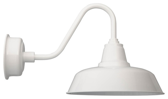 led lighting in kitchen adjustable white 16 quot led gooseneck goodyear barn light 6930